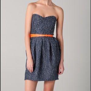 Shoshanna Strapless Tweed Dress